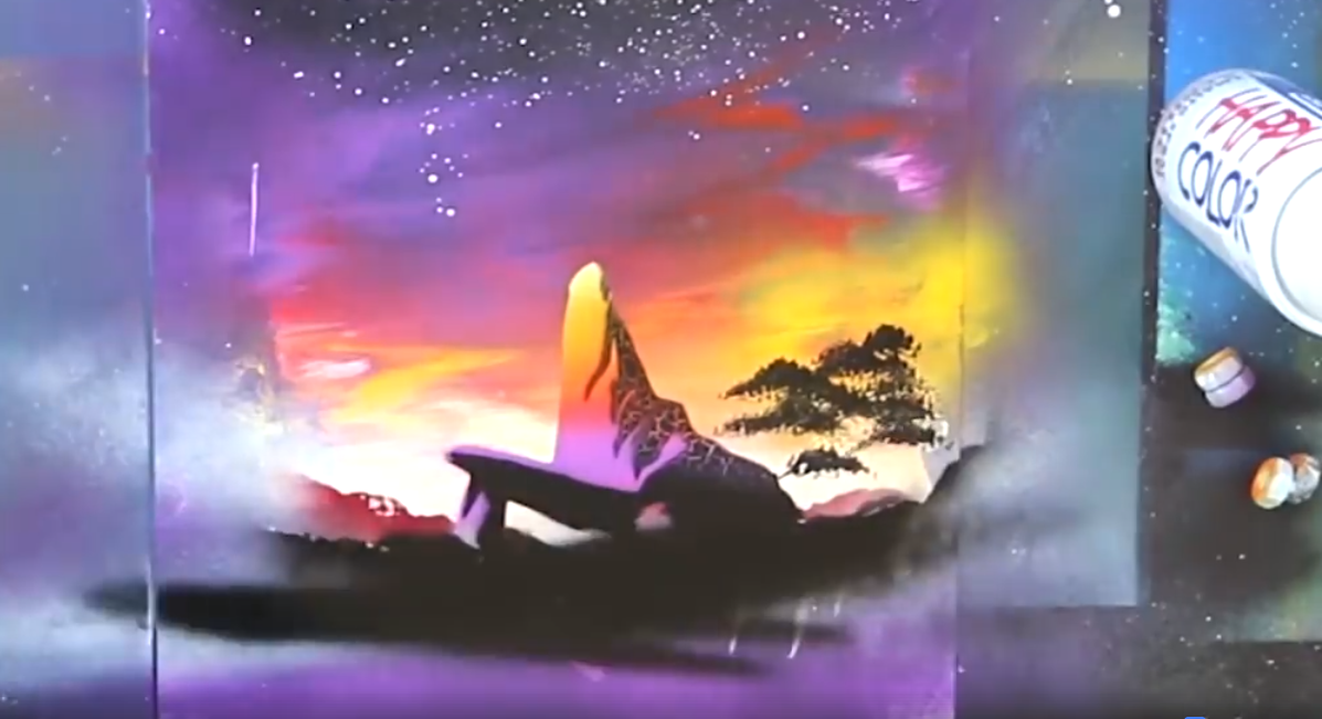 Spray Paint Art Disney
